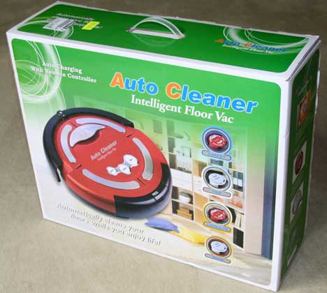 Verpackung des Clarstein Cleanmate Silver bzw. Red alias Auto Cleaner M-488